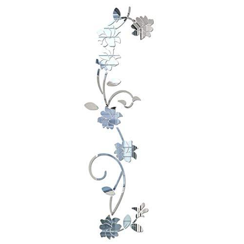 ZLJBB 3D DIY Blume Geformt Wandaufkleber Acryl Moderne Aufkleber Dekoration Für Wohnzimmer Schlafzimmer Tv Wand Color