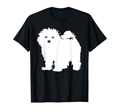 Bichon Frise T Shirt Hund Tshirt Geschenk Silhouette -