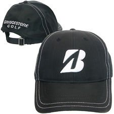 NEW BRIDGESTONE GOLF 2014 BSG CONTRAST STITCH PERFORMANCE CAP . BLACK (Cap Bridgestone)