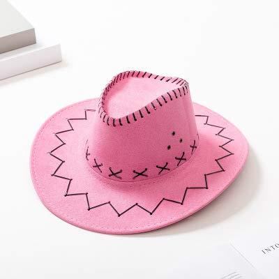 TYMZTY Sonnenhut New Western Cowboy Hüte Für Männer FrauenAnkunft Mode Tourist Caps Für Kind Jungen Gilrs Party Kostüme Cowgirl Cowboy HüteRosa
