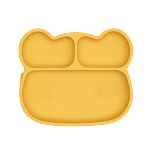 We Might Be Tiny - Piatto in silicone a forma di orso, colore: Giallo