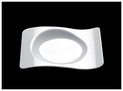 Gold Plast-50-Assiette en forme par paquet 80x66 mm blanc