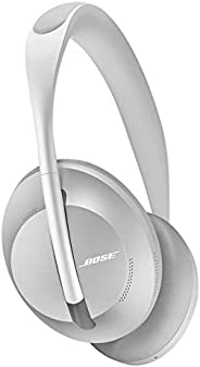 Bose Noise Cancelling Headphones 700 Wireless Bluetooth, con Controllo Vocale Alexa, Argento