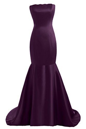 Toscana sposa dall'effetto Mermaid Satin dal giovane sposa per una serata vestimento un'ampia Party ball vestimento Uva