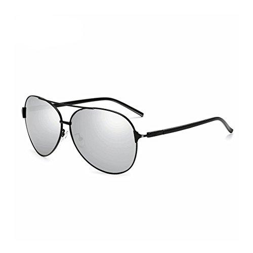 Honneury Sonnenbrillen für Herren - Mode Polarisierte Spiegel Sonnenbrille 100% UV-Schutz (Farbe : Black Box White)