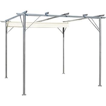 vidaxl pergola garten pavillon mit schiebedach. Black Bedroom Furniture Sets. Home Design Ideas