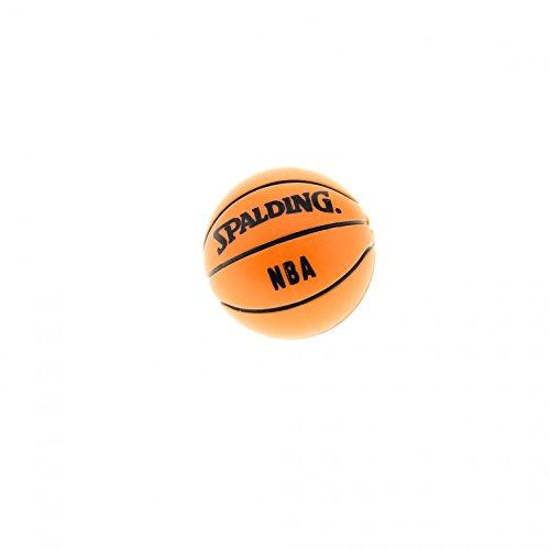 1 x Lego System Ball Basketball orange Bedruckt mit Spalding NBA schwarz für Set Sports 3500 3432 3433 3529 43702pb01