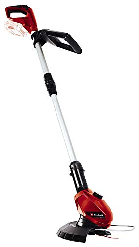 Einhell GE-CT 18 Li Solo Power X-Change 18 V Cordless Lithium Grass Trimmer with 20 cm Cutting Width (240 mm Cutting Circuit, 20 Plastic Blades, Without Battery and Charger) - Red