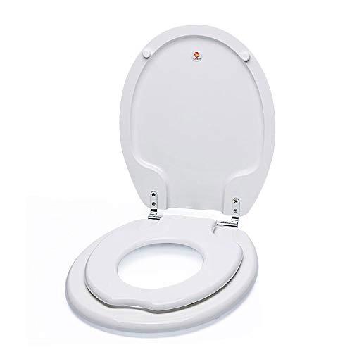 KR Toilettendeckel Toilettensitzwc-Sitz Für Erwachsene Toilettensitz Für Erwachsene Trompetensitz Für Babys Toilettensitz Für Erwachsene (Weiß)