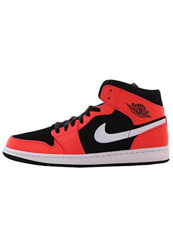 Nike Herren AIR Jordan 1 MID Basketballschuhe Mehrfarbig (Black/Infrared 23-White 061) 47.5 EU