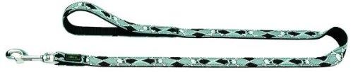 Artikelbild: Führleine Krazy Scull 10/110 Band schwarz gebuggt/Nylon schwarz