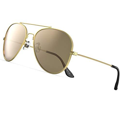 PAERDE Polarisierte Sonnenbrille Herren,Damen-UV 400 Schutz|Outdoor lässiger Stil|Memory-Metall Sonnenbrille