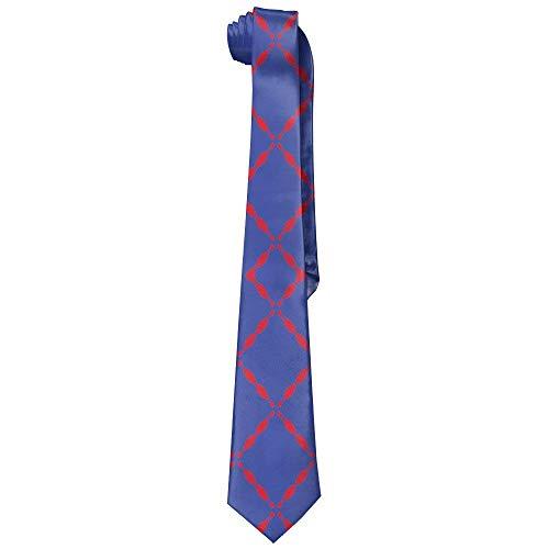 Blue Bowling Pin Men's Tie Long Necktie Skinny Neckwear Silk