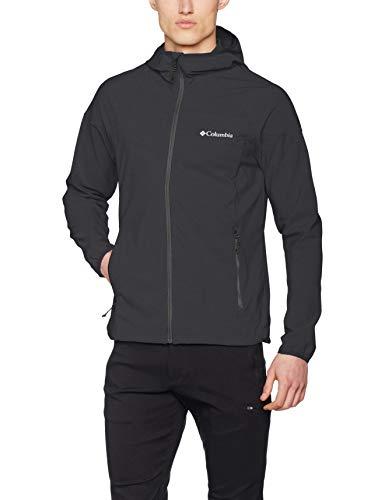 Columbia Softshell Kapuzenjacke für Herren, Heather Canyon Jacket, Softshell Polyester, schwarz, Gr. L, WM1207