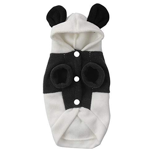 TYJY Warm Hund Kleidung Welpen Kätzchen Hoody Niedlichen Panda Design Mantel Kostüm Outwear Für Hunde Katze Party Cosplay Halloween Kleid, S