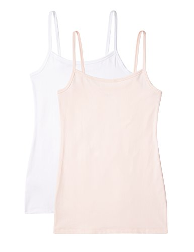 IRIS & LILLY Camiseta sin Mangas para mujer Body Natural Pack de 2, 1
