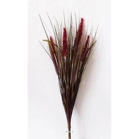 Artificiales–Isolepsis Artificial en arbusto H 63cm 4gatitos bourgognes