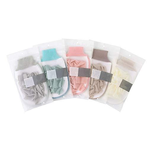HCHD 5 stück Peeling Badeschwamm Hauch für Dusche Wäscher Doppelseitige Körper Reinigungsbürste Handschuhe Duschbad Massage Handtuch Ball (Color : Ramdom Color) (Kunststoff-körper-wäscher)