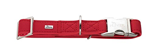 Hunter Softie Alu-Strong Gr. Collier en Cuir Kunstleder Nubuk Polyuréthane pour Chien Rouge 45-65 cm Taille L/25