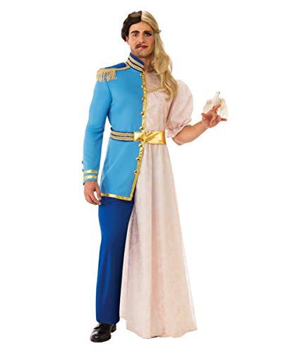 Horror-Shop Halb/Halb Prinz und Prinzessin Kostüm | One Size One Size