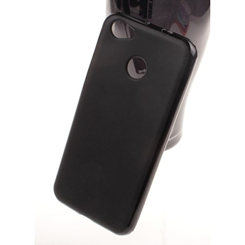 MISEMIYA - Hüllen Taschen Schalen Skins Cover für ZTE Blade A6 - Hüllen, TPU-Trans,Schwarz (Tasche Piel Schwarz)
