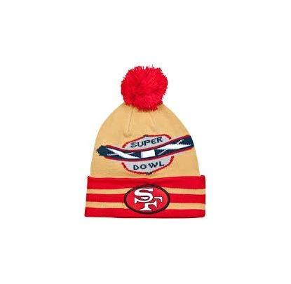 8fc10b908fd New Era NFL San Francisco 49ers Super Bowl XIX Large Point Knit Cap Rouge
