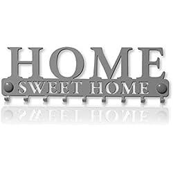 Colgador Llaves de Pared Elements (9 Ganchos) Guardallaves Cuelga Decorativo Ganchos de Metal para Cocina, Puerta de Casa | Portallaves Perchas Organizador | Decoración Vintage