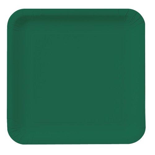 Creative Converting 463262 DINNER PLATES SQ. DD Teller, Papier, hunter green Green Square Dinner Plate