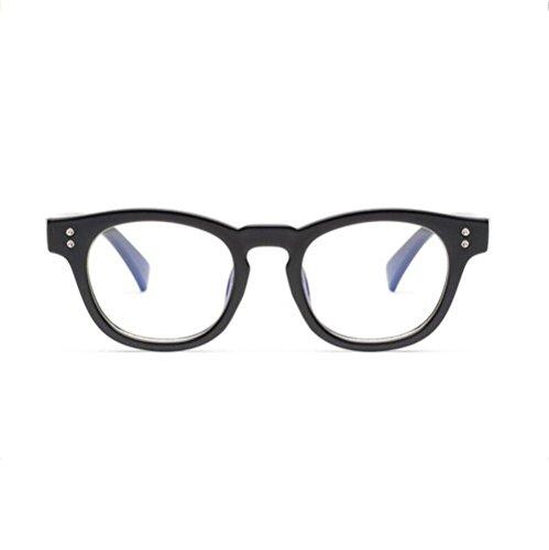 Fett Rahmen Spiegel (Z&YQ klar Linse Gläser Flieger Spiegel Myopie fett Rahmen Gezeiten Schutzbrillen , black)