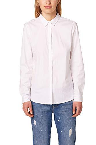 ESPRIT Collection Damen 997EO1F802 Bluse, Weiß (White 100), 38