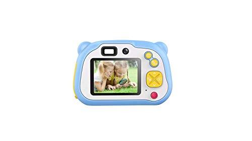 WOGQX Kinderspielzeug Spaß Kamera Doppelobjektiv Kinder Selbstauslöser Digitalkamera 25 Millionen Pixel 1080P HD-Blitz Autofokus WiFi Sharing Junge Mädchen Blau Rosa,Blau