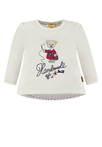 Steiff Baby-Mädchen Sweatshirt 1/1 Arm, Weiß (Whisper White 1100), 74