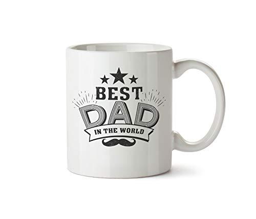 True Statements Papa Tasse Best dad in The World - Kaffeetasse, Kaffeebecher, Vater zum Geburtstag -