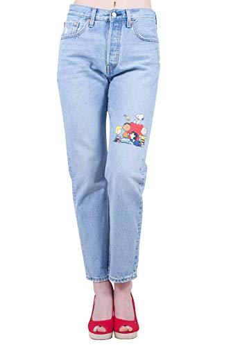 LEVI'S x Penauts Women - 501 Peanuts print stone wash jeans - Size 27 - Levis 501 Jeans Womens