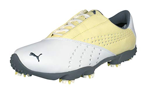 Puma Tour Saddle SL Golf Chaussures femmes-White-37