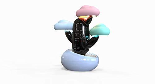 Stimme wecker lichtuhr temperatur smart erinnerungsuhr erinnern das wetter-blau für Kinderzimmer, Flur, Kinderzimmer, Treppe, etc.