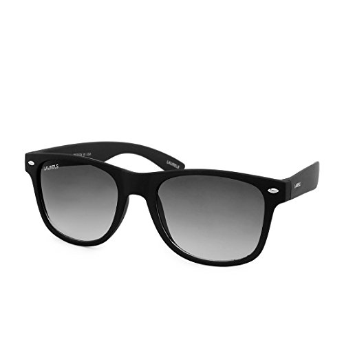 Laurels Wayfarer Unisex Sunglasses(60|Black)