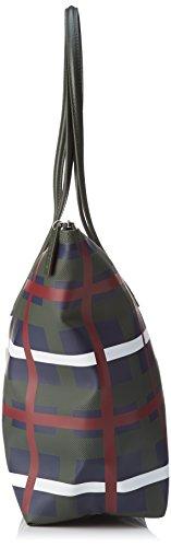 Lacoste - L1212 Concept Fantaisie, Borsa a tracolla Donna Multicolore (Check Rosin)