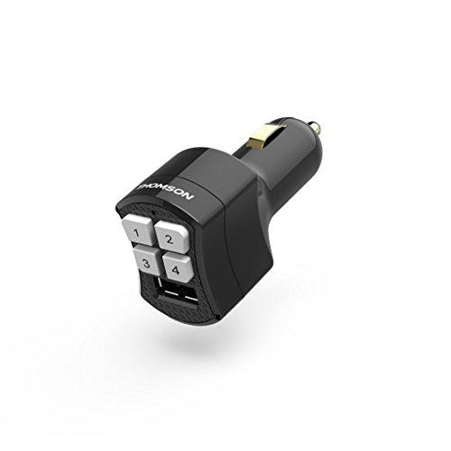 Hama Universal Garagentor Fernbedienung für Auto Zigarettenanzünder (4 programmierbare Tasten, inkl. USB-Ladefunktion, Fix-Code/Rolling-Code 280–868 MHz, 40m Funk Reichweite) Ersatz Handsender schwarz