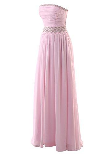 YiYaDawn Elegantes Langes Brautjungfernkleid Cocktailkleid Ballkleid für Damen Königsblau