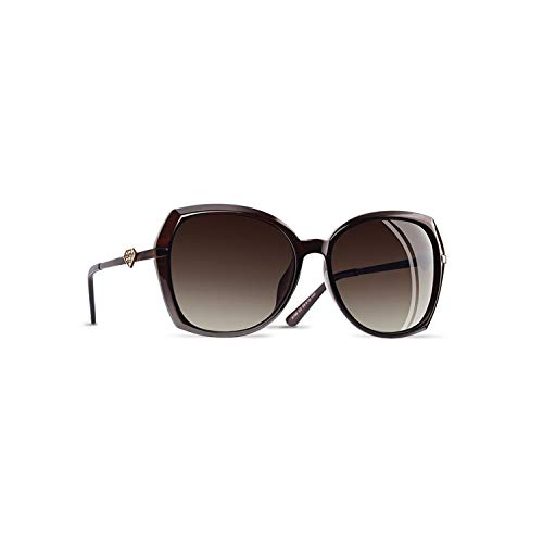 Sportbrillen, Angeln Golfbrille,BRAND DESIGN Diamond Shape Luxury Women Polarisiert Sunglasses Fashion Ladies Sun Glasses Female Gradient Eyewear Goggles C3Brown