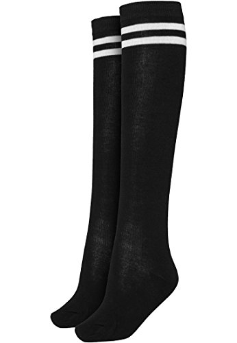 ies College Socks (black/white), Gr. 36/39 (Schwarze Knie-socken)