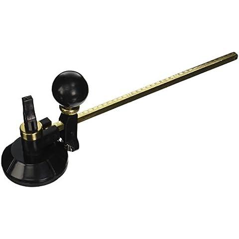 19,81 cm longitud de la palanca tono de oro brújulas cortador Circular de cristal