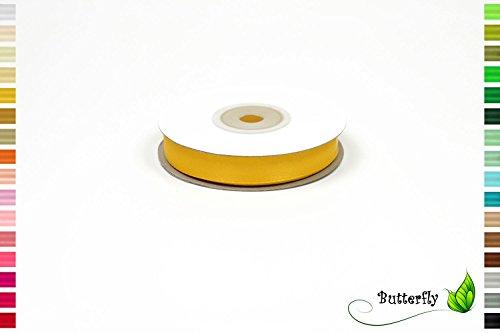 12mm ( gelb 645 ) // Deko Band Satin Geschenkband Schleifenband Dekoband Dekoration Hochzeit Taufe (Gelbe Bänder)