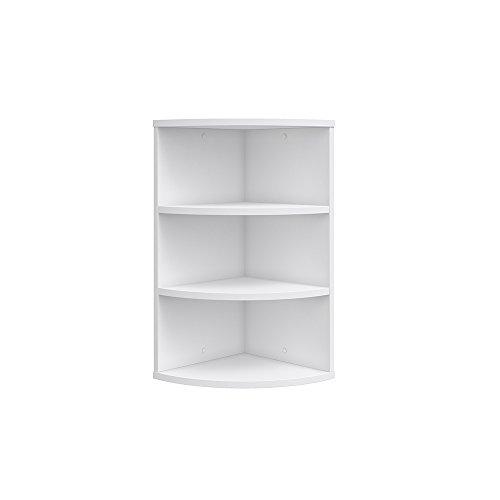 VICCO Eckregal ECKI 0,5 weiß - Hängeregal Wandregal Bücherregal Regal Design