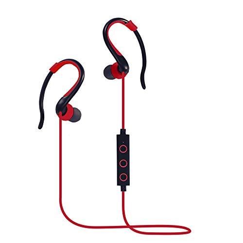 Sunlmg 4,2 auricolare bluetooth wireless sports subwoofer stereo cuffie universali,red