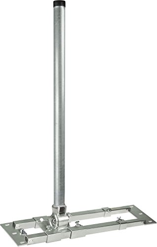 Dachsparrenhalter - DUR-line® Herkules S48/900 - über 1000Nm - Breite:55- 90cm, Masthöhe:90cm, Ø:48mm, feuerverzinkt, Kabeldurchführung