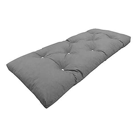 MyLayabout Single   1 Seater   Memory Foam Futon Mattress   Roll Out Bed   Guest Bed   Grey   190cm x 75cm   UK Manufactured   9 Colours Available   3 Sizes Available