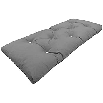 mylayabout single   1 seater   memory foam futon mattress   roll out bed   guest bed   grey   190cm x 75cm   uk manufactured   9 colours available   3 sizes     navy blue cotton twill  u0027brooklyn u0027 roll up camping futon mattress      rh   amazon co uk