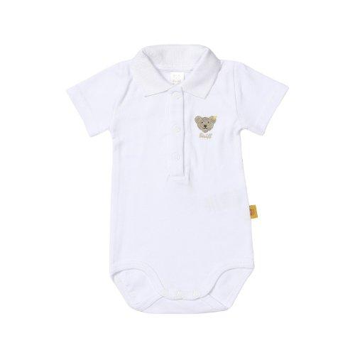 Steiff Unisex - Baby Body 0008703 1/2 Arm, Einfarbig, Gr. 62, Weiß (Bright White)